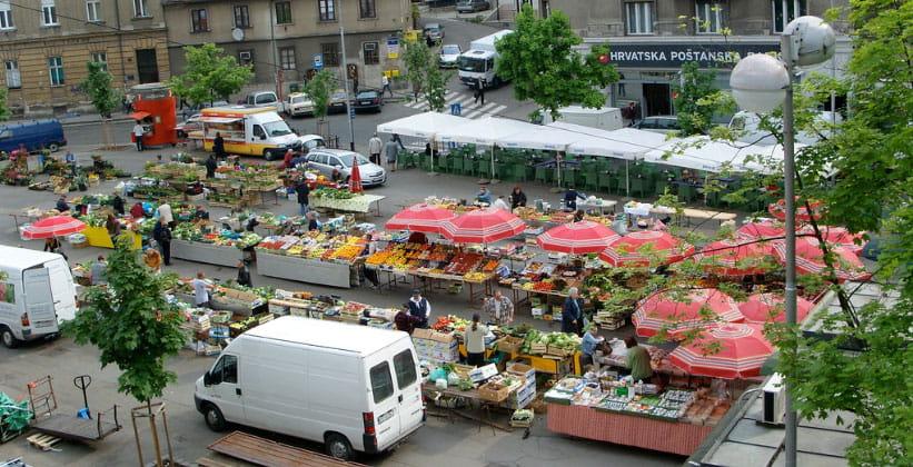 Рынок Britanski в Загребе (Хорватия)