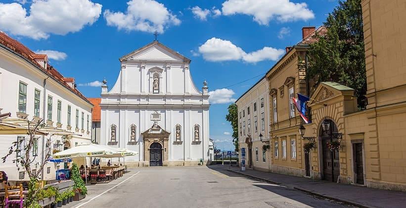 Церковь Святой Екатерины в Загребе (Хорватия)