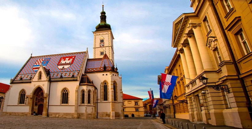 Площадь Святого Марка в Загребе (Хорватия)