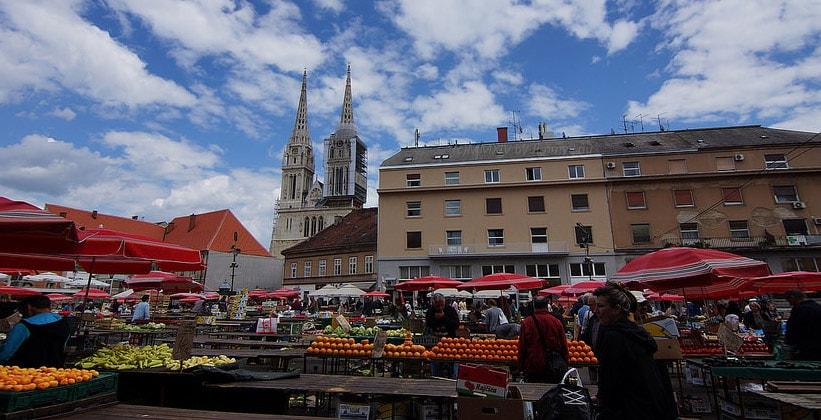 Рынок Долац в Загребе