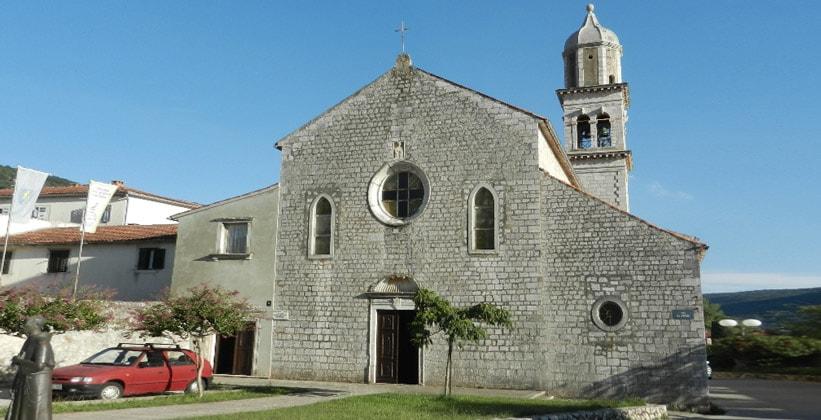 Святой Францискский монастырь в городе Црес (Хорватия)