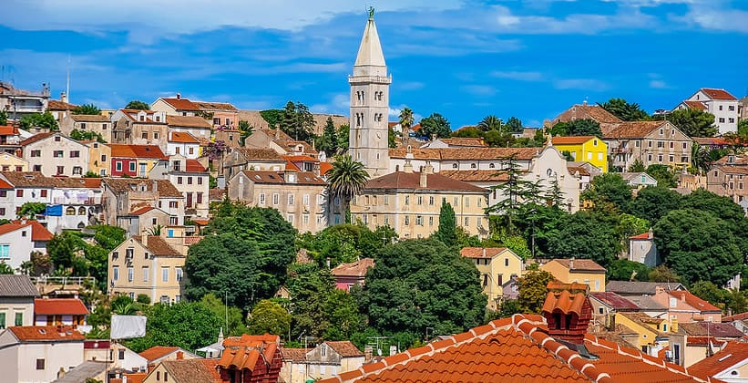 Город Мали-Лошинь в Хорватии