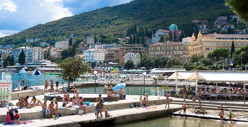 Курортный город Опатия в Хорватии