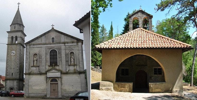 Церковь Мартина и часовня Марии на скалах Берама (Хорватия)