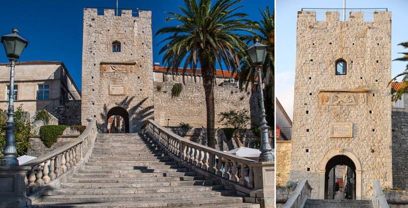 Главные городские ворота Корчулы (Хорватия)