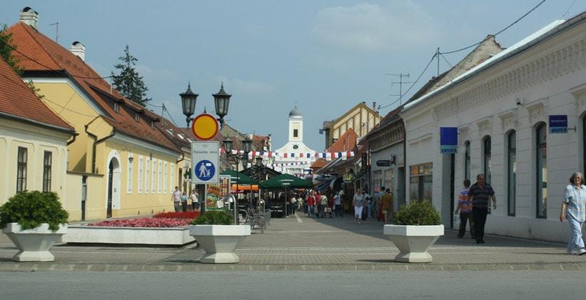 Город Джяково в Хорватии