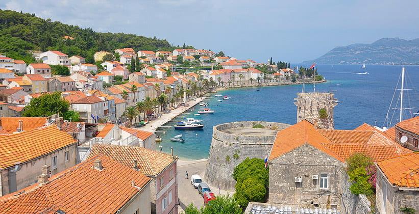 Город Корчула в Хорватии
