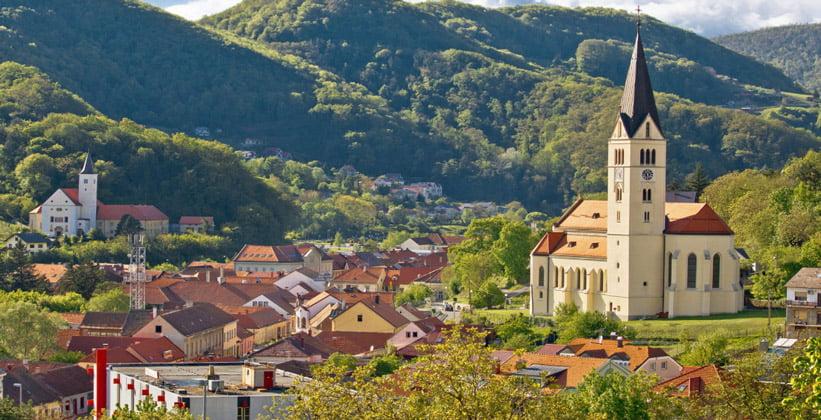 Город Крапина в Хорватии