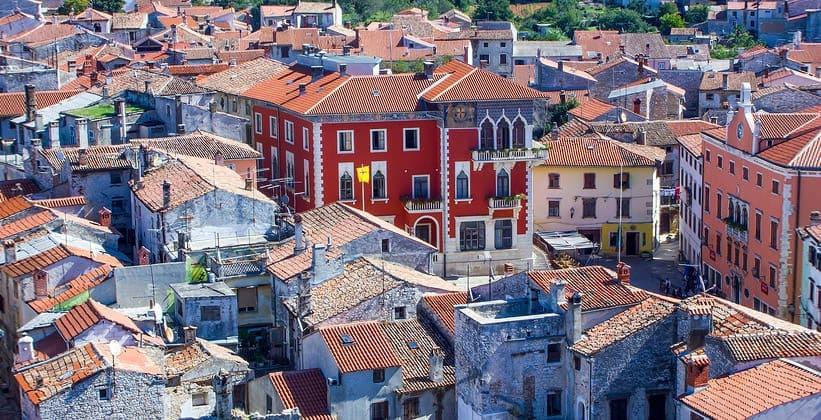 Город Воднян в Хорватии