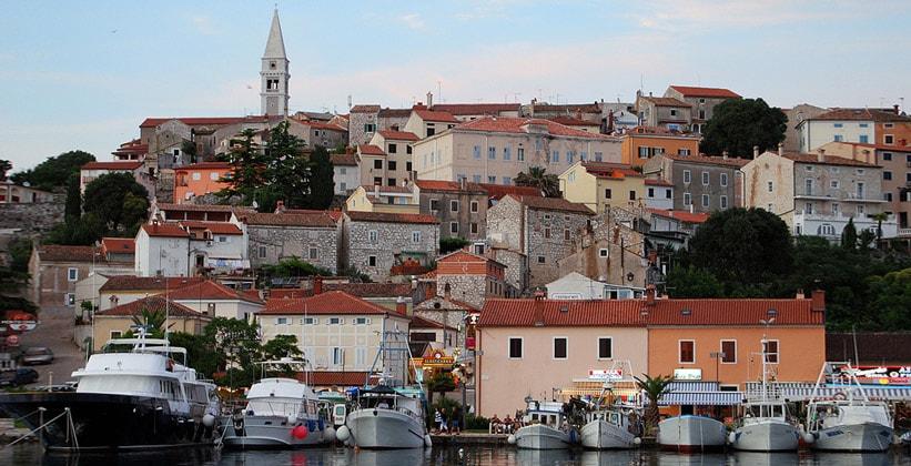 Городок Врсар в Хорватии