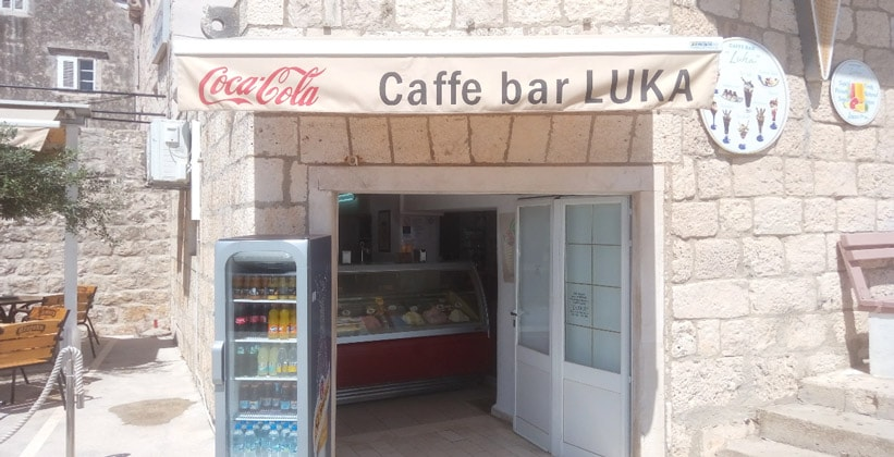 Кафе-бар Luka в городе Корчула (Хорватия)