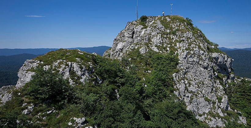 Пик горы Клек в Хорватии