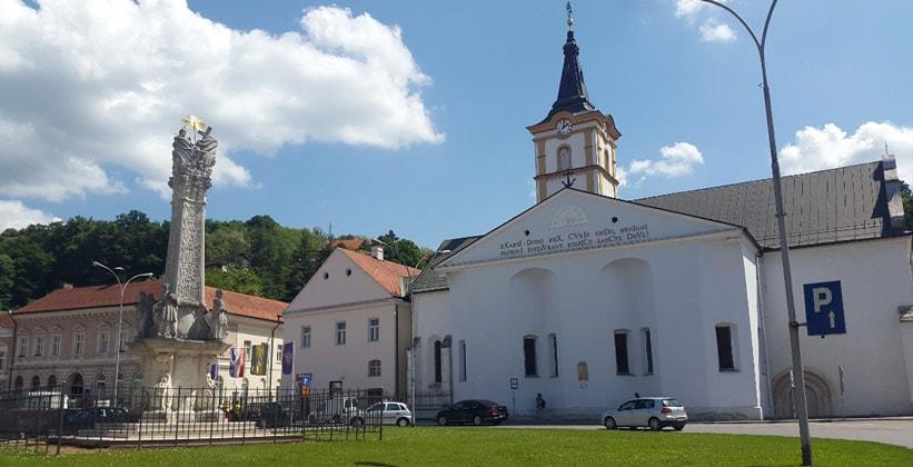 Площадь Святой Троицы в Пожеге (Хорватия)