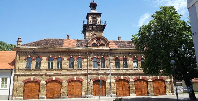 Пожарная станция в городе Славонски-Брод (Хорватия)