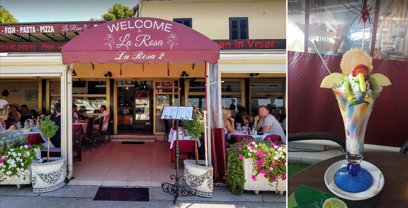 Ресторан La Rosa в городке Врсар (Хорватия)