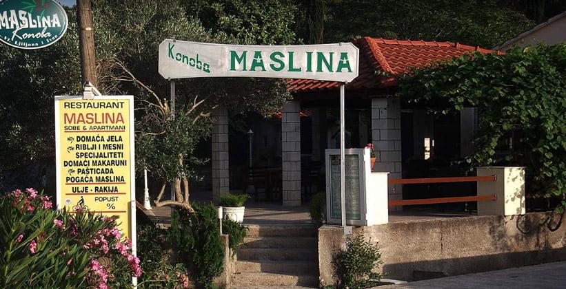 Ресторан Maslina в городе Корчула (Хорватия)