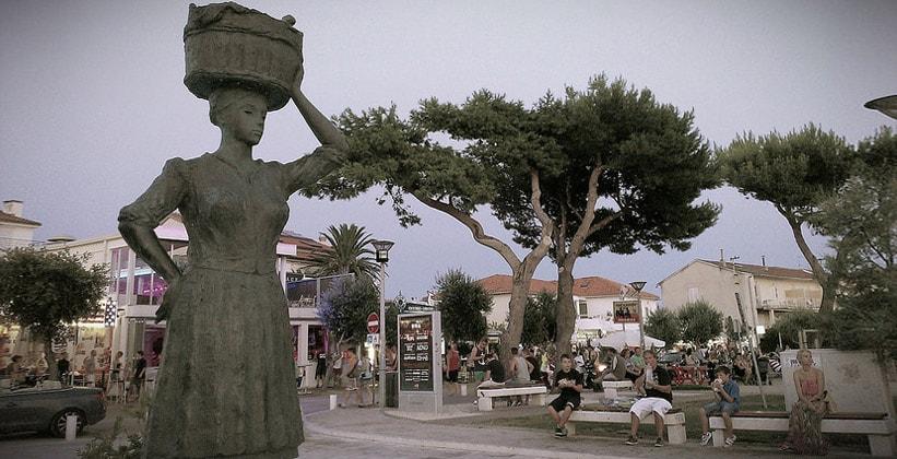 Центральная часть города Новаля (Хорватия)