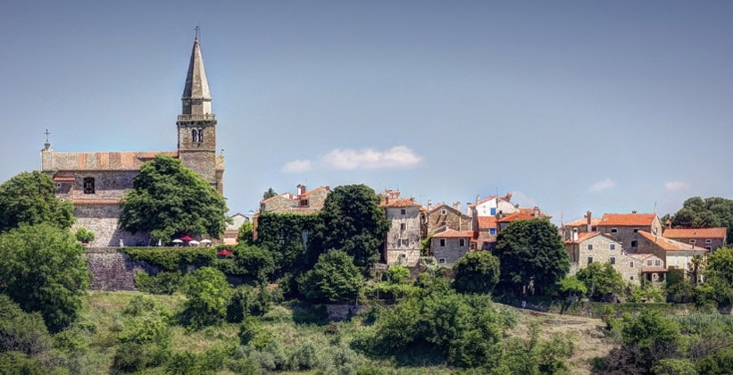 Деревня Грожнян в Хорватии