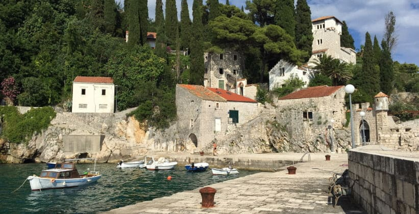 Деревня Трстено в Хорватии