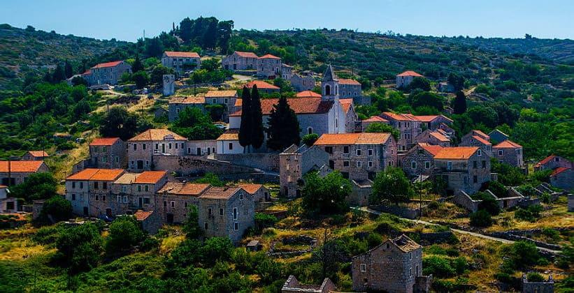 Деревня Velo Grablje в Хорватии