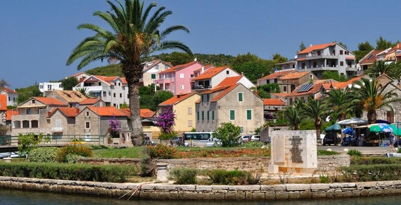 Деревня Врбоска в Хорватии