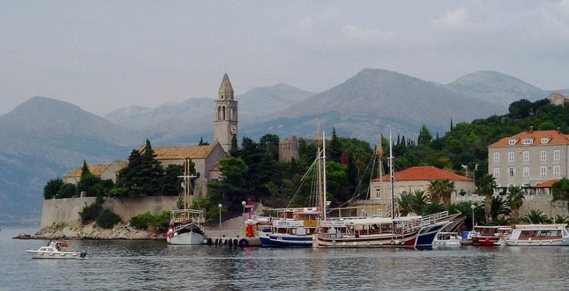 Францисканский монастырь на острове Лопуд (Хорватия)