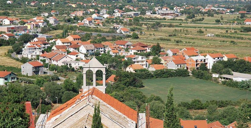 Город Дрниш в Хорватии