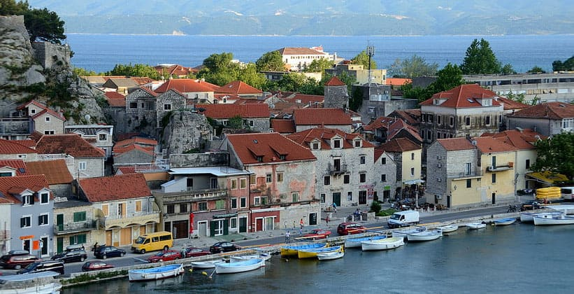 Город Омиш в Хорватии