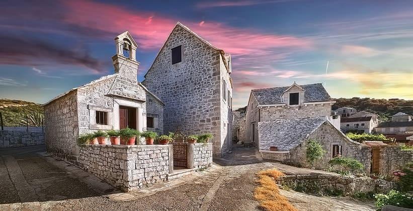 Городок Пучишча в Хорватии