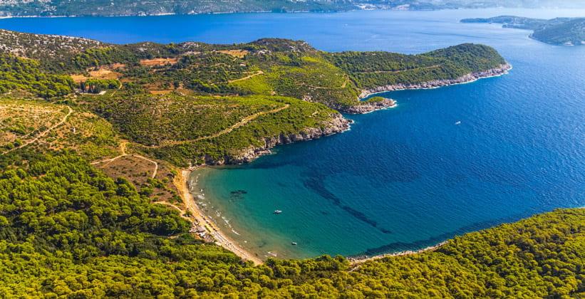 Остров Лопуд в Хорватии
