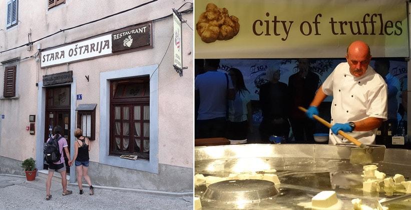 Ресторан Stara Ostarija в Бузете (Хорватия)