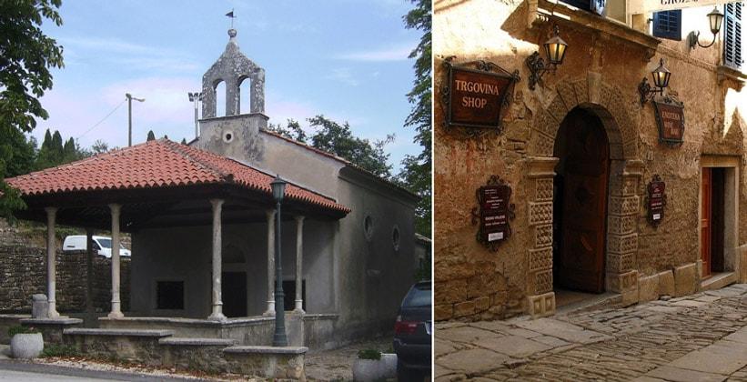Святилище и магазин в Грожняне (Хорватия)