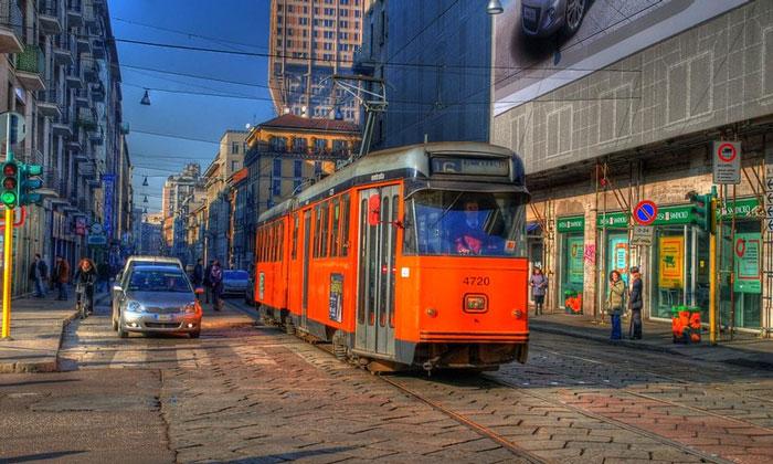Городской трамвай Милана
