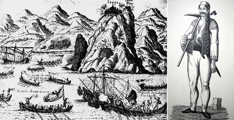 Ускоки атакуют венецианский корабль (XVI век)