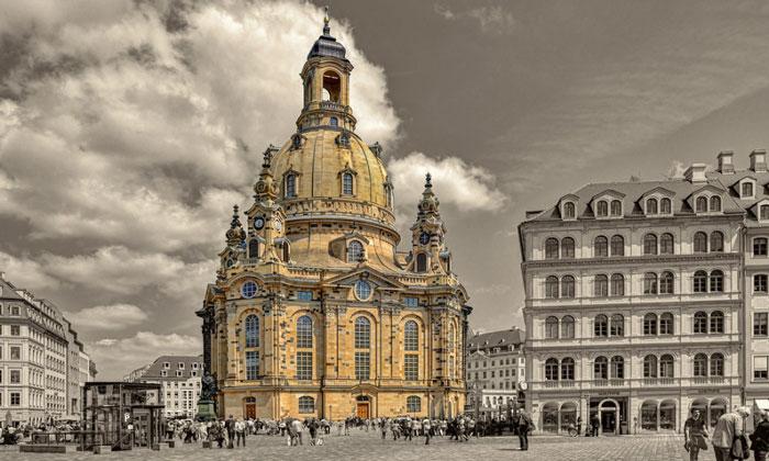 Церковь Фрауэнкирхе в Дрездене (Германия)