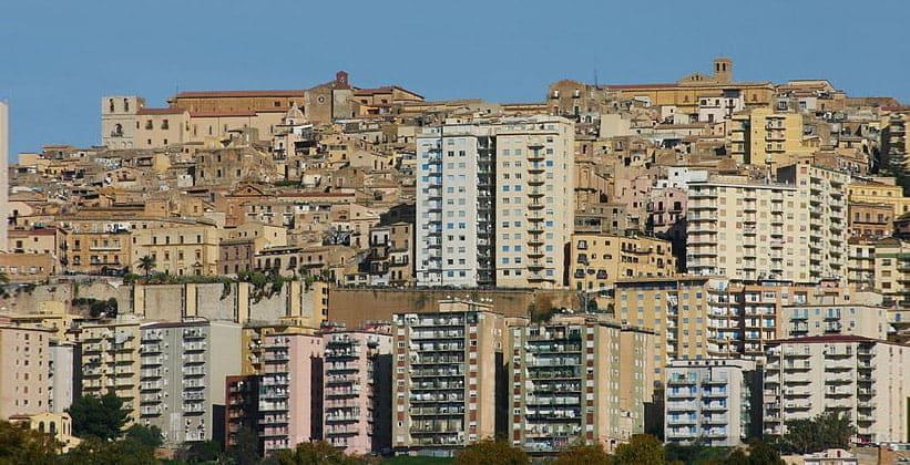 Город Агридженто в Италии