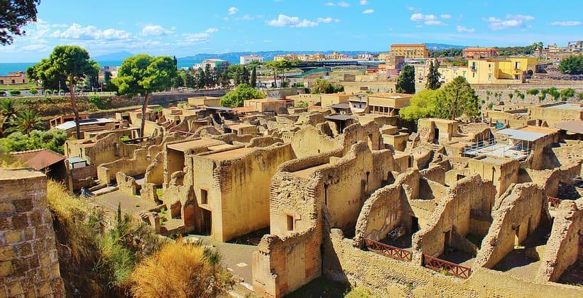 Древнеримский город Геркуланум в Италии