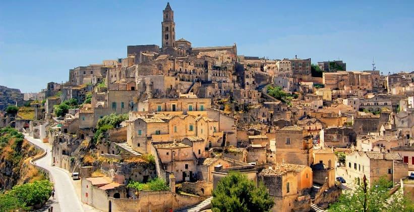 Город Матера в Италии