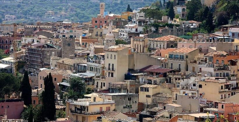 Город Таормина в Италии