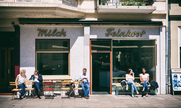 Кафе «Milch Feinkost» в Гамбурге