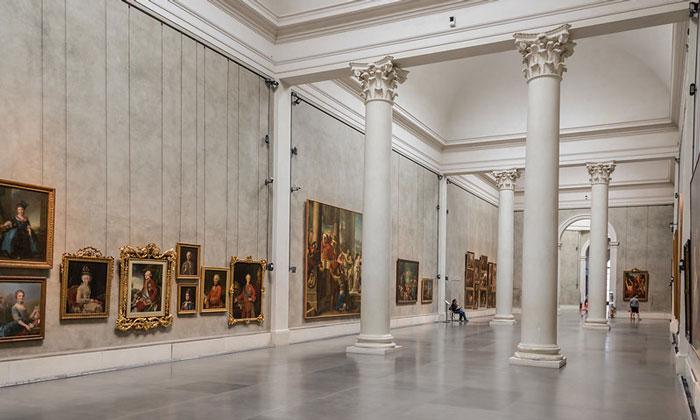 Внутреннее убранство Национальной галереи Пармы