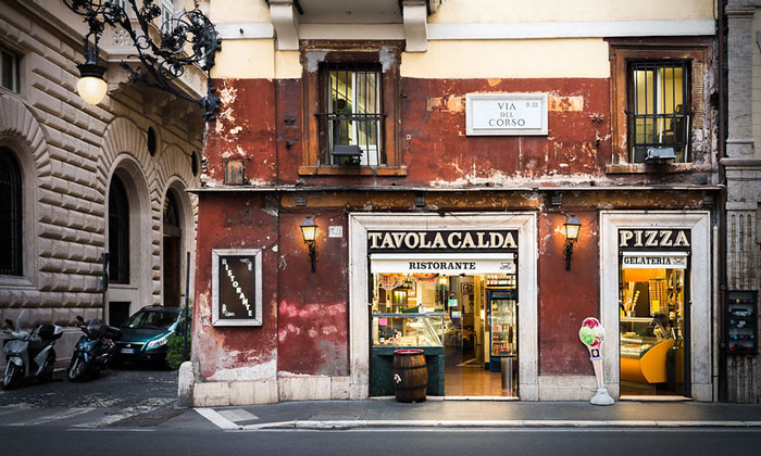 Ресторан-мороженое Tavola Calda в Риме