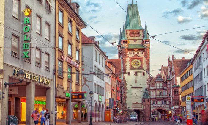 Ворота-башня Мартинстор во Фрайбурге