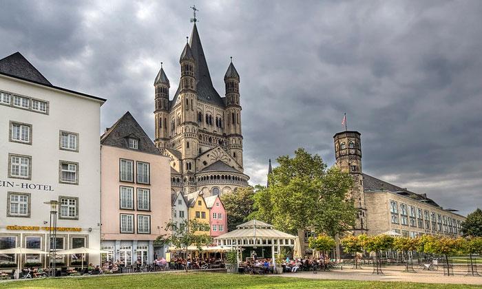 Большая башня церкви Святого Мартина в Кёльне