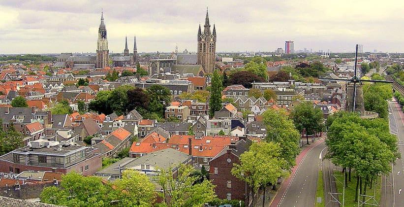 Город Делфт в Нидерландах