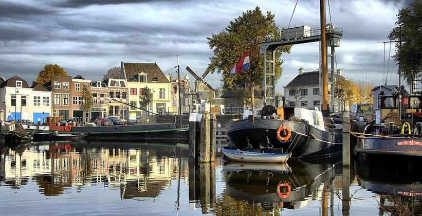 Город Гауда в Нидерландах