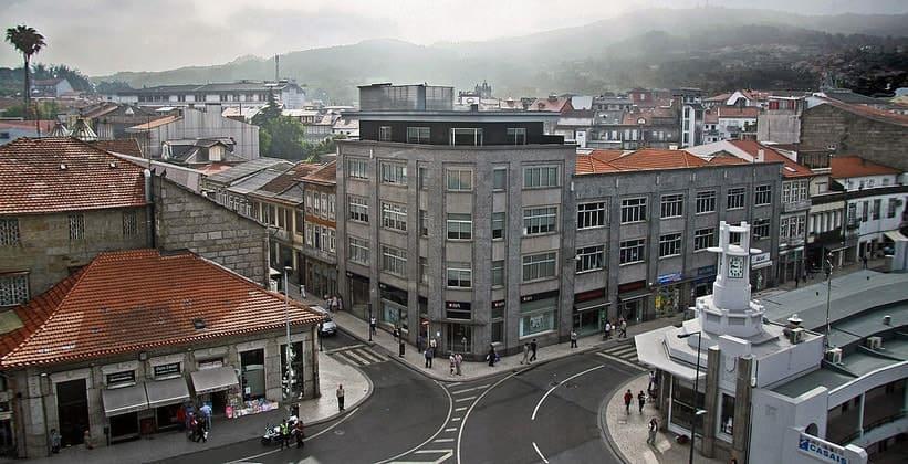 Город Гимарайнш в Португалии