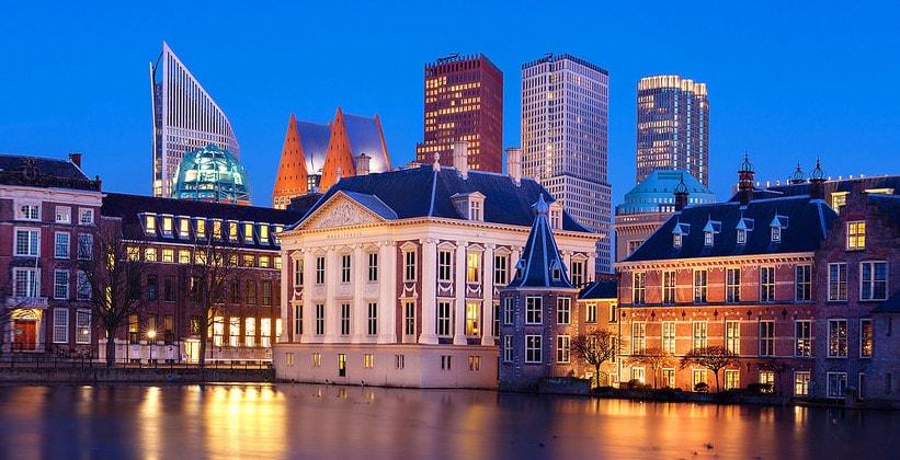 Город Гаага в Нидерландах