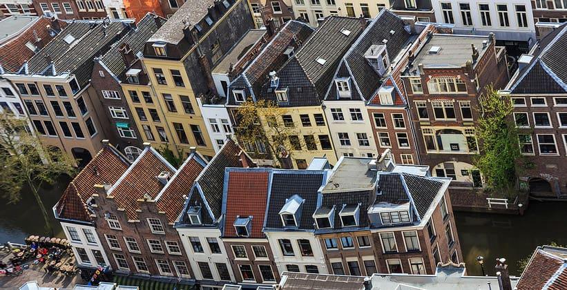Город Утрехт в Нидерландах