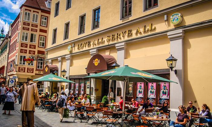 Кафе «Hard Rock» в Мюнхене